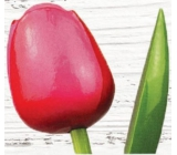 Wooden tulip 34 cm pink-red 9495