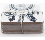Nekupto Home Decor Wooden coasters set 10 x 10 cm 6 pieces