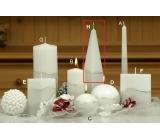 Lima Artic candle white pyramid 75 x 250 mm 1 piece