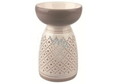 Aromalampa ceramic gray-white size 16 cm