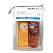 Bioderma Photoderm SPF30 Bronze dry oil for prolonging tan 200 ml + Max Photoderm Max SPF50plus cream 40 ml + case, cosmetic set