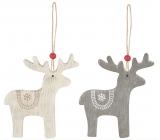 Wooden reindeer, for hanging 8 cm 1 piece