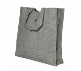 Albi Eco bag made from foldable washable paper - gray 37 cm x 37 cm x 9.5 cm