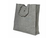 Albi Eco bag made of washable folding paper - gray 37 cm x 37 cm x 9.5 cm