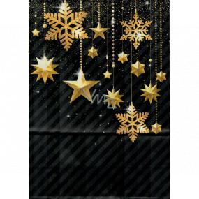 Ditipo Gift paper bag EKO 22 x 10 x 29 cm black gold ornaments