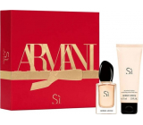 Giorgio Armani Sí perfumed water for women 30 ml + body lotion 75 ml, gift set