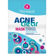 Dermacol Acneclear Astringent mask for problematic skin 2 x 8 g