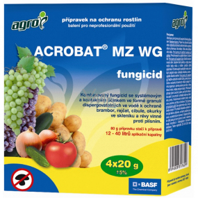 Agro Acrobat MZ WG fungicide plant protection product 4 x 20 g