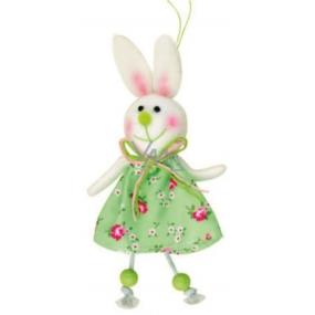 Green hare in a flowered skirt 15 cm