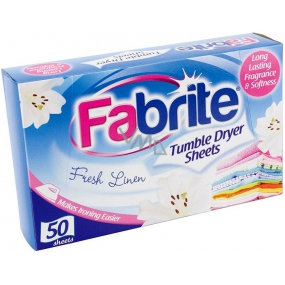 Fabrite Fresh Linen fragrance for dryer wipes 50 pieces