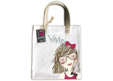 Ditipo Girl with ribbon fashion textile bag 35 x 38 cm