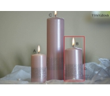 Lima Ribbon candle light pink cylinder 60 x 120 mm 1 piece