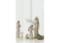 Willow Tree Bethlehem - Joseph, Mary with Jesus, Shepherd with sheep and donkey, Joseph's height is 24 cm.