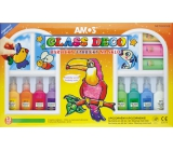 Amos Glass colors set of 13 colors x 22 ml + foil and stencil