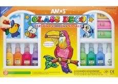 Glass Colors Set 13 pcs 22 ml + foils and stencils