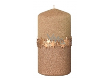 Arome Star ribbon candle gold cylinder 60 x 120 mm 260 g