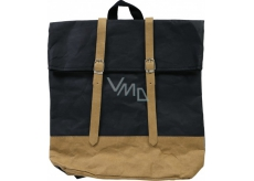 Albi Eco backpack with straps made of washable paper Black 38 x 36 x 9 cm