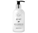 Scottish Fine Soaps Au Lait bath and shower gel dispenser 300 ml