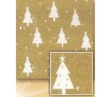 Nekupto Vánoční balicí papír Zlatý, bílé stromky 2 x 0,7 m BVC 2015 21