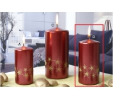 Lima Starlight candle red / gold 60 x 120 mm 1 kud