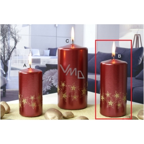 Lima Starlight candle red / gold 60 x 120 mm 1 piece