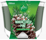 Glade by Brise Nordic Crisp Pine with the scent of pine, juniper and mistletoe scented large candle in a glass, burning time up to 52 hours 224 g