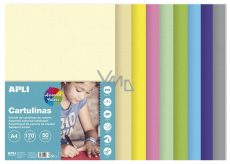 Apli Colored papers A4 mix of pastel colors 170 g 50 sheets