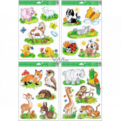 Room Decor Window foil without glue hand-painted animals 33.5 x 26 cm
