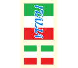 Arch Tetovací obtisky na obličej i tělo Itálie vlajka 1 motiv