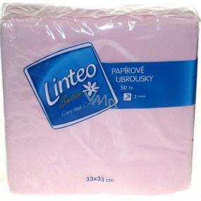 Linteo Satin paper napkins 33 x 33 cm 50 pieces light pink