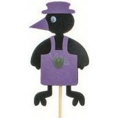 Crow in apron purple groove 7 cm + skewers 15 cm