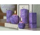 Lima Marble Lavender scented candle purple cylinder 60 x 120 mm 1 piece