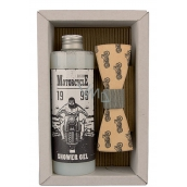 Bohemia Gifts & Cosmetics Biker Olive Oil Shower Gel 250 ml + wooden butterfly cosmetic set