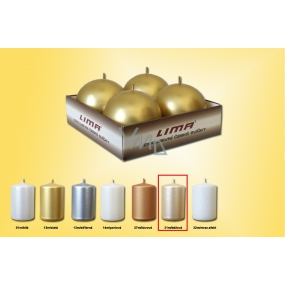 Lima Candle smooth metal beige ball diameter 60 mm 4 pieces