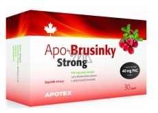 Apotex Apo-Cranberries Strong strong extract from whole fruits, food supplement 500 mg 30 capsules