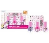 Mimoni Fluffy Peeling Nail Polish 3 x 5 ml + stickers + nail file, cosmetic set for children