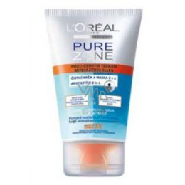 Loreal Pure Zone cleansing cream and mask 2 in 1 black dots against 100 ml