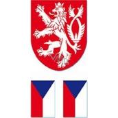 Arch Tetovací obtisky na obličej i tělo Česká vlajka 5 motiv