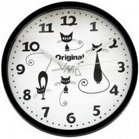 Albi Original Black Cat Wall Clock 25.5 cm × 25 cm