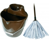 Spokar Cleaning kit large bucket, wringer, mop tape brown