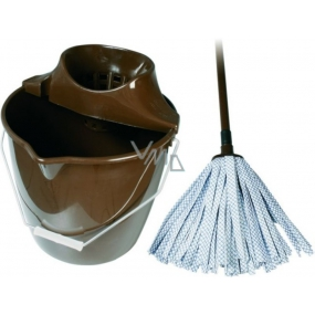 Spokar Cleaning set large bucket, wringer, mop tape brown