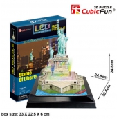 CubicFun Puzzle 3D Statue of Liberty LED illuminated 37 pieces 20.4 x 24.8 x 24.8 cm