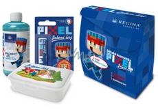 Regina Pixel sprchový gel 250 ml + pomáda na rty 2,3 g + svačinový box, kosmetická sada