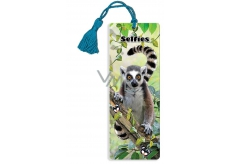 3D bookmark - Lemur 5.7 x 15.3