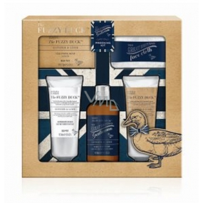 Baylis & Harding The Fuzzy Duck Ginger & Lime 2in1 shampoo and shower gel 300 ml + toilet soap 150 g + shower gel 130 ml + aftershave balm 130 ml + face wash, men's cosmetic set