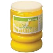 Bolsius Aromatic Citronella repellent scented candle against mosquitoes, in plastic, lemon yellow 65 x 86 mm