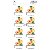 Arch Stickers for Preserving Apricots Natural product 3433 8 labels