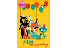 Ditipo Playing Birthday Cards Your Birthday - Animals We Love Animals - Jitka Molavcova, Bambini di Praga 224 x 157 mm