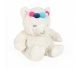 Albi Warm plush toy Lama white with headband 25 x 20 cm 750 g