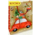 Nekupto Gift paper bag small 14 x 11 x 6.5 cm Christmas 1796 30 WBS